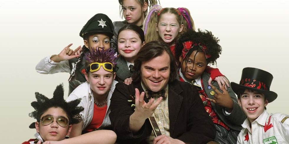 Jack Black and the kids of School of Rock